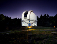 The David Dunlap Observatory at night